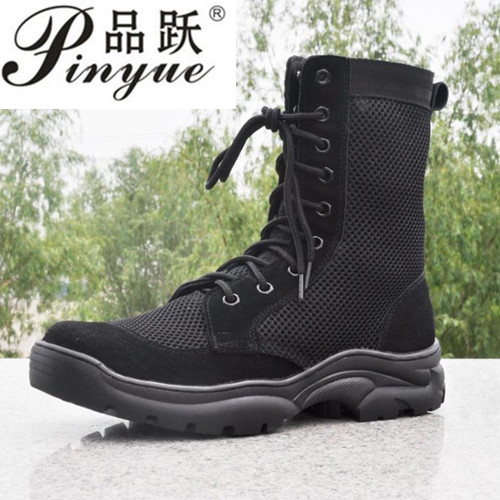 Summer Men's Outdoor Breathable Army Tactical Boots Mens Light Military Combat Work Boots Shoes Botas Hombre size 35   44-in Work & Safety Boots from Shoes    1