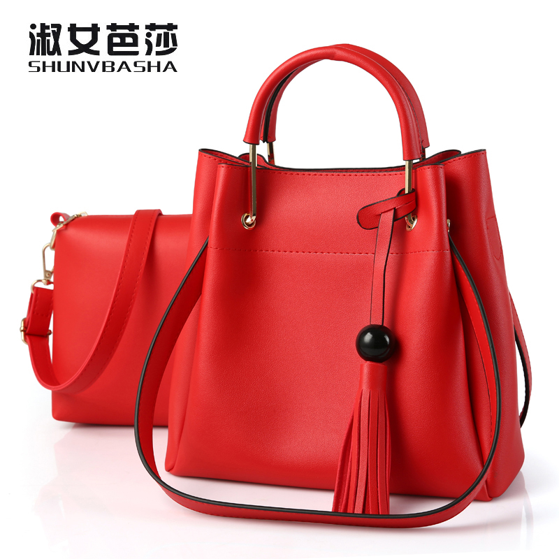 Grils PU Leather Handbags Luxury Brand Famous Designer Vintage Tote Shoulder Bags High Quality Ladies Black Red Womens Hand Bag# vintage bag designer handbags high quality famous brand tote shoulder ladies hand bag crossbody bags for women messenger bags