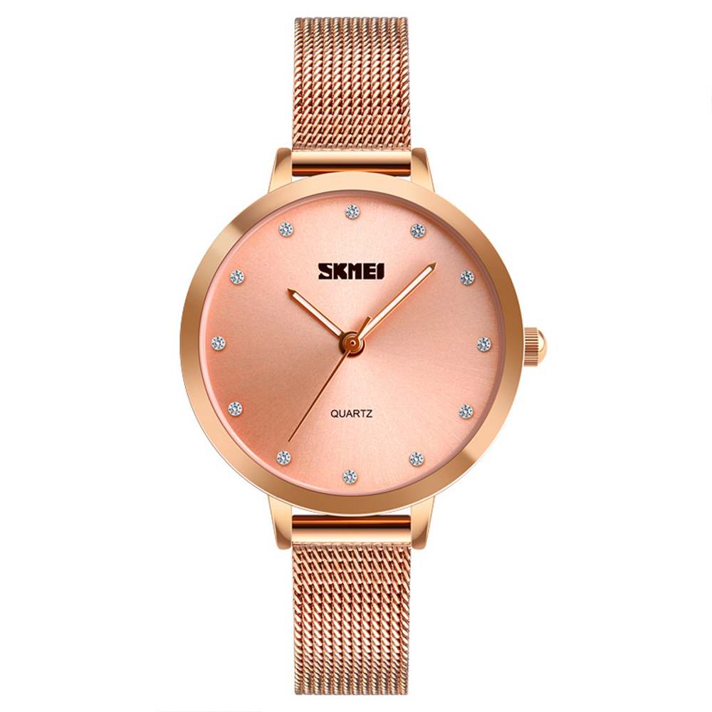 SKMEI Women Fashion Watches Luxury Stainless Steel Strap Quartz Watch Ladies Waterproof Elegant Wristwatches Relogio FemininoSKMEI Women Fashion Watches Luxury Stainless Steel Strap Quartz Watch Ladies Waterproof Elegant Wristwatches Relogio Feminino