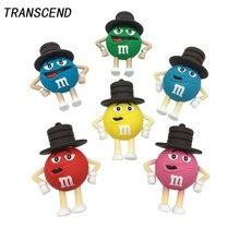 Transcend Cartoon M & M Chocolate Flash Drive External Storage USB2.04GB 8GB 16GB 32GB 64G Notebook U Disk pendrive Free Shippin