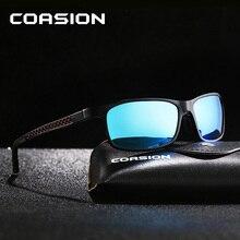 COASION Brand Design Aluminum Magnesium Sunglasses Men Polarized Rectangle Driving Sun Glasses Male Eyewear Oculos UV400 CA1247