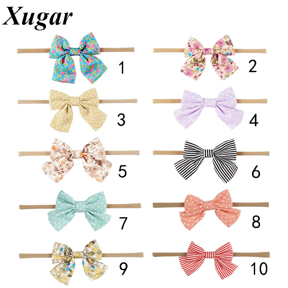 4 Pcs/Lot 5.5'' Sweet DIY Boutique Bow Headbands With Elastic Toddler Baby Children Girl Hair Accessories 10pcs sweet diy boutique bow headbands elastic head band children girl hair accessories headwear wholesale