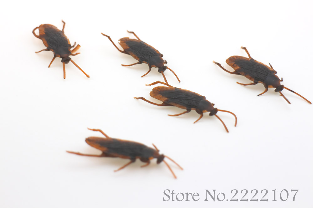 5pcs 2pcs Fashion Halloween Haunted House Funny Spoof Toy Simulation Centipede cockroach housefly maggot For Party