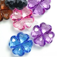 20Pcs 17x17x6mm Acrylic Assorted Flower Beads Jewelry DIY Making Findings Fit Bracelet Necklace AR0177