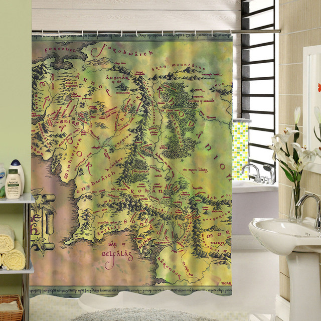 Online Shop 2017 New Custom Fabric Shower Curtain Waterproof Anti ...