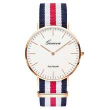 Hot Sale Nylon strap Style Quartz Women Watch Men Watch Fash