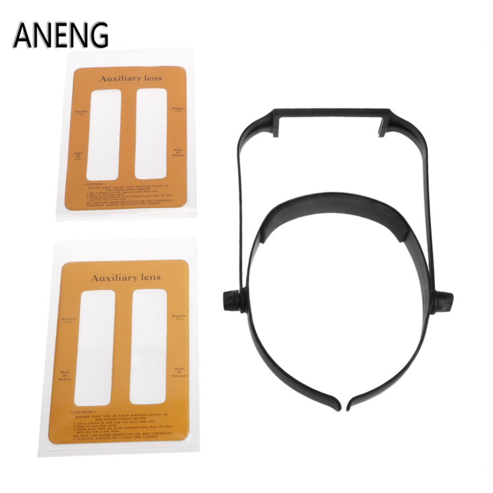 ANENG 1.6x 2.0x 2.5x 3.5x Head Headband Replaceable Lens Loupe Magnifier Magnify Glass