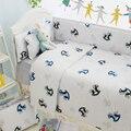 Cavalo bonito conjunto tampa de cama cama berço do bebê baby bedding set Kits de 100% Do Bebê Do Algodão Roupa de Cama Para Berço Do Bebê Recém-nascido, frete Grátis