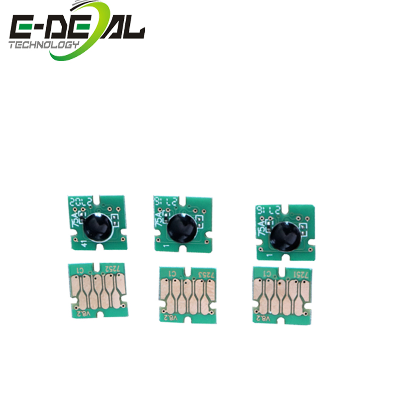 E-deal T7251 One Time Chip for <font><b>Epson</b></font> Surecolor <font><b>F2000</b></font> Cartridge chip for <font><b>Epson</b></font> SC-<font><b>F2000</b></font> <font><b>printer</b></font> 6 color/set image