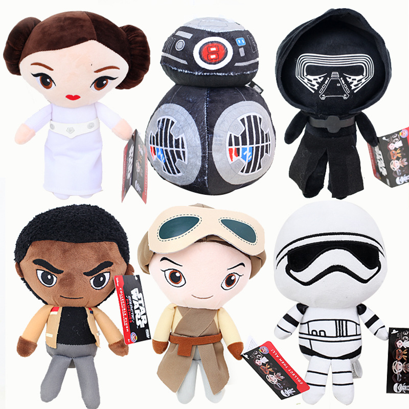 Star Wars 8 Plush Toys New The Force Awaken Bb-9e Darth Vador Storm Trooper Finn Rey Lena Prin Stuffed Doll For Baby Kid Gifts