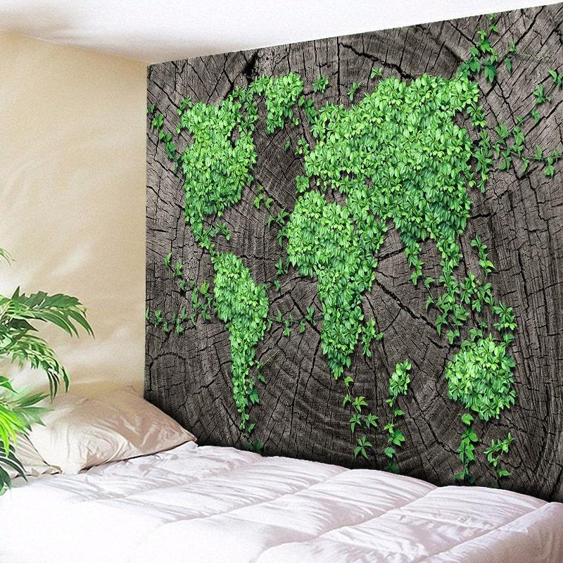 Black Gray Ombre Indian Mandala Cotton Bohemian Hippie Tapestry Boho Home Decor
