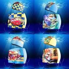 Childrens Swimming Shorts Cartoon and  Caps Suit Boys Swim Trunks Swimsuit Fit Body Weight 15-45KG Random pattern