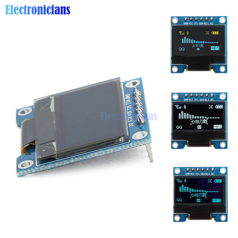 White/Blue/Yellow Blue 0.96 Inch 12864 128*64 6Pin IIC I2C SPI Interface OLED LCD Digital Display Module SSD136 DIY For Arduino