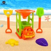 11センチ子供砂時計車ビーチのおもちゃ屋外のおもちゃ子供水砂演奏ツール砂ゲームのビーチ夏玩具