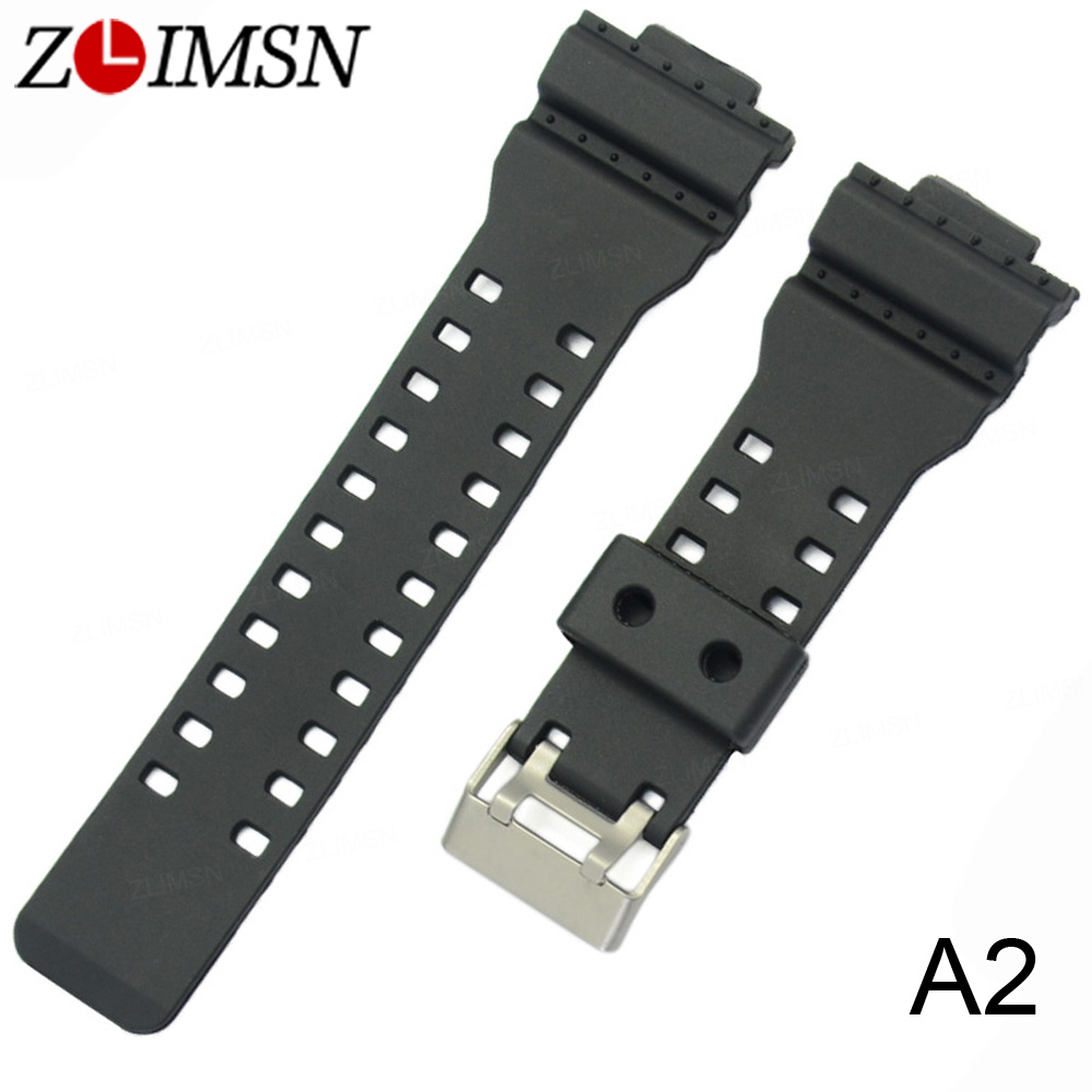 ZLIMSN Rubber Strap Wrist Men Black Silicone Watchbands Military Sweatband Watch Band Sport Straps Watchband who cares tropic hawaii with flamingo 3d printing cosmetic bag women fashion brand organizer neceser maquillaje girls makeup bag