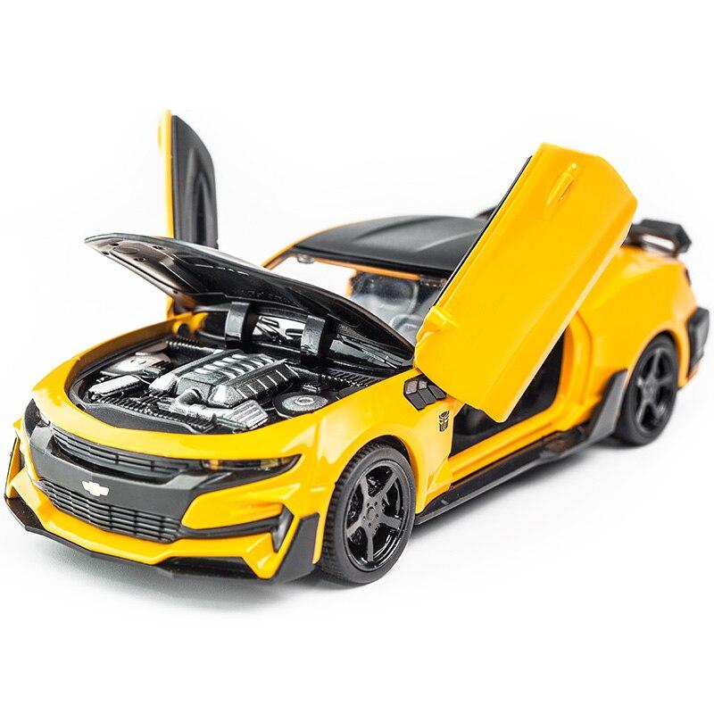 1:32 chevrole Camaro Alliage Moulé Sous Pression De Voiture Modèles KIDAMI Pull Back Toy Collection Voitures pour enfants, hot wheels d'anniversaire cadeau