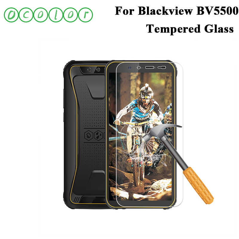 ocolor For Blackview BV5500 Tempered Glass Screen Protector Steel Film Replacement For Blackview BV5500 Mobile Phone Accessories