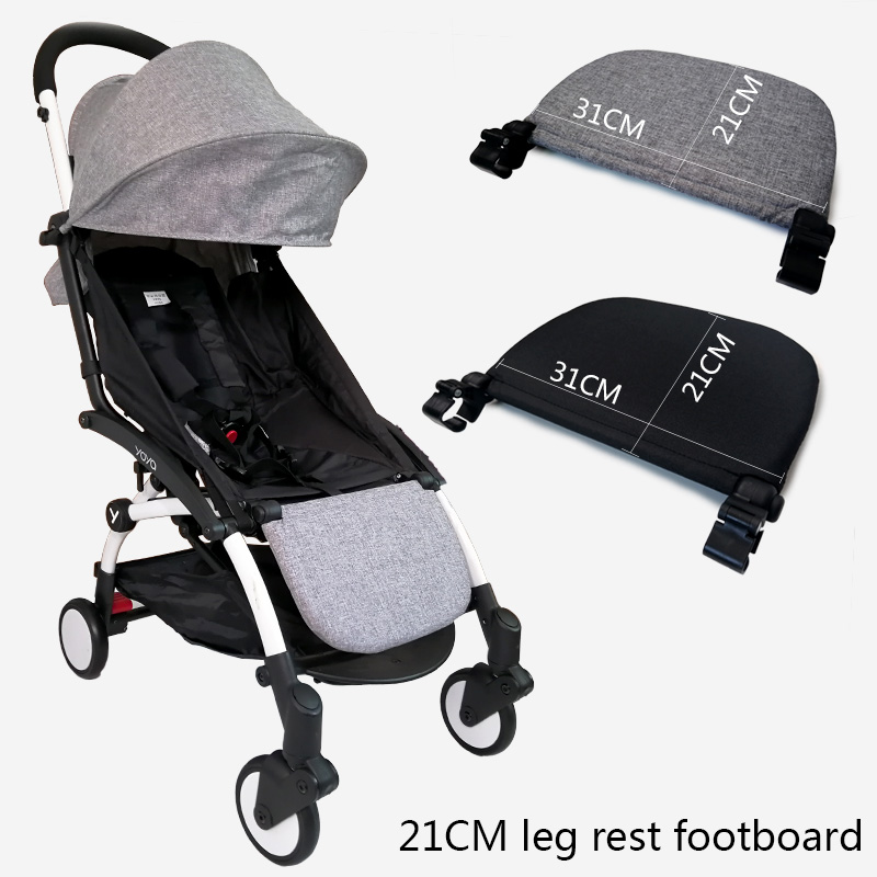 Baby Carriage Feet Extend Footboard For Babyzen Yoyo+ Yoya BabyTime Stroller Extend Footrest Pedal Baby Stroller Accessories-in Strollers Accessories from Mother & Kids