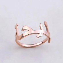 Personalized Custom Name Ring Wedding Jewelry Arabic Ring Stainless Steel Adjustable Bague Femme Bijoux 925 sterling silver arabic ring personalized custom nameplate thin ring arabic letters name jewlery women fashion