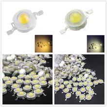 50PCS 1W 3w High power LED Lamps white6000-6500K /warm white3000-3500K 30mil 45mil Chips high light lights