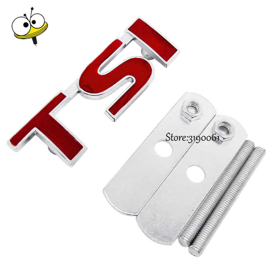 For TSI Emblem Car Accessories for VW <font><b>Volkswagen</b></font> Polo 5 7 Golf <font><b>Passat</b></font> <font><b>B5</b></font> B6 Jetta GTI Bora Grille Emblem Car <font><b>Sticker</b></font> Badge Decal image