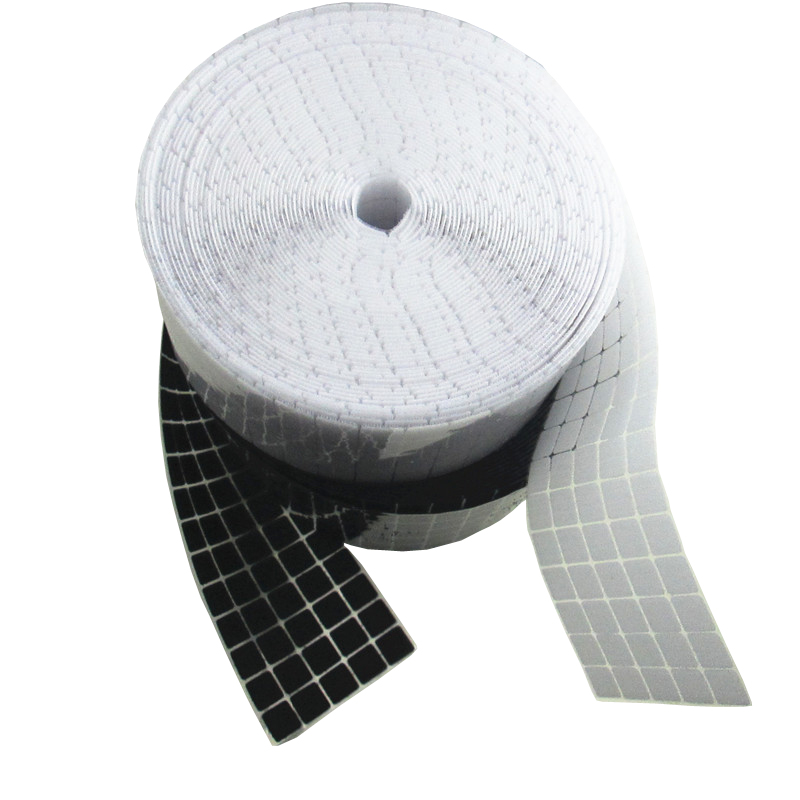 Adhesive Fastener Tape 1000 Pairs Nylon Adhesive Fastener Tape Double-sided White Hooks Loops Sticker Disks Table Chair Feet Protection Pad Fastener Non-Ironing