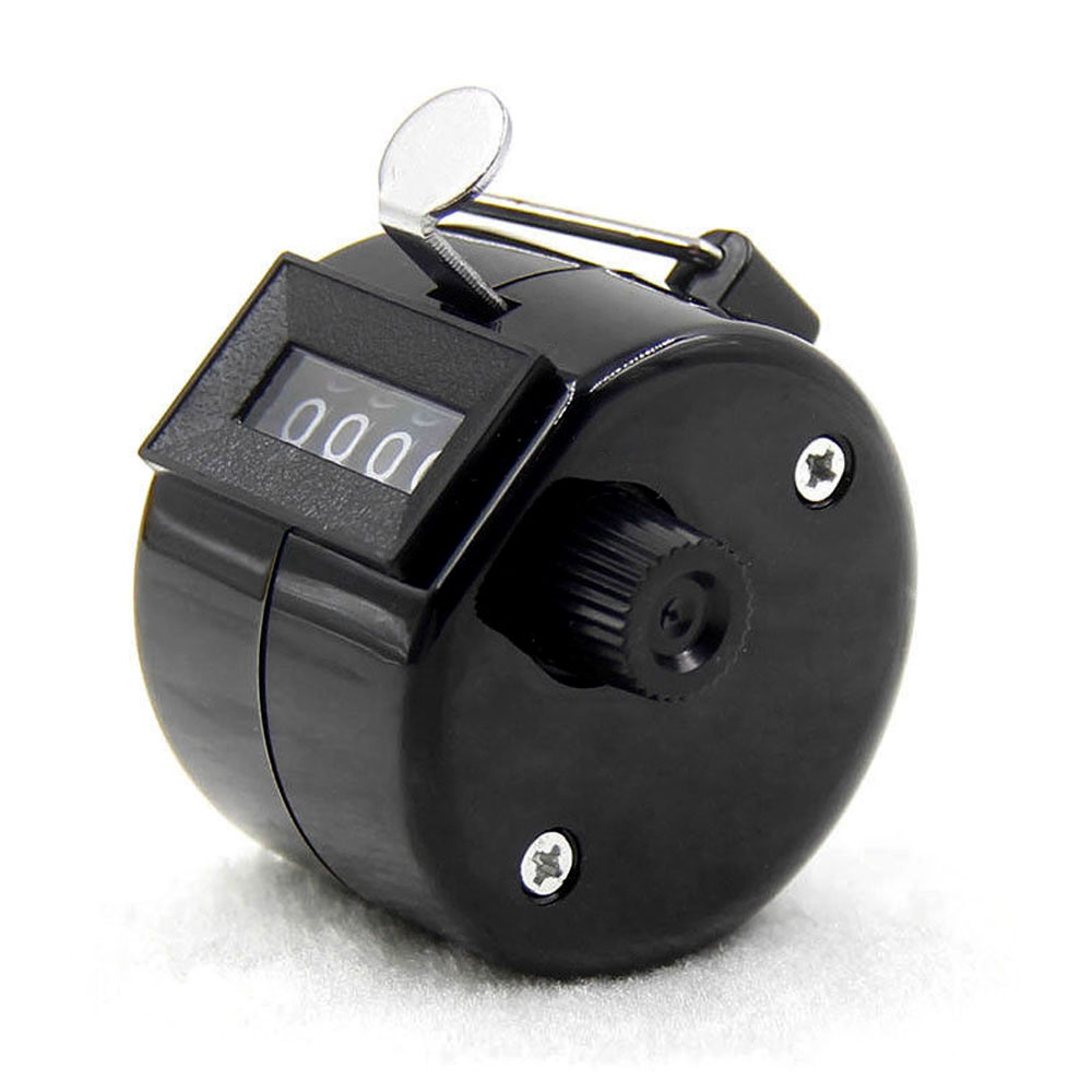 4-разрядный счетчик ручной счетчик Гольф-кликер Талли Портативный Механические универсальный - Цвет: black