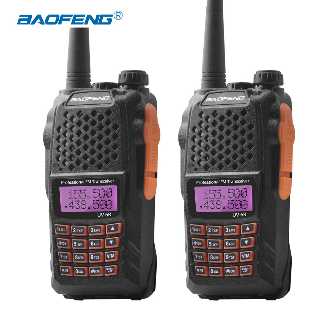 2Pcs Baofeng UV 6R Radio Station uv6r Walkie talkie UHF VHF dual band uv 6r walky