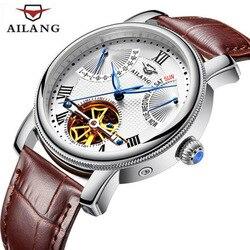 AILANG Relogio Masculino mężczyzna oglądać najlepsze marki luksusowe Tourbillon automatyczne mechaniczne zegarka mężczyzna złoty szkielet zegarek na rękę 2018