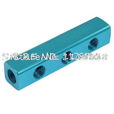 1/4 Thread Ports 3 Way Quick Connect Air Hose Manifold air compressor 1 2bsp 2 way hose pipe inline manifold block splitter teal blue