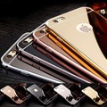 Moda espejo de la galjanoplastia de lujo ultra delgada cubierta del claro tpu soft phone case para iphone 5 5s se 6 6 s plus 7 plus case coque Funda