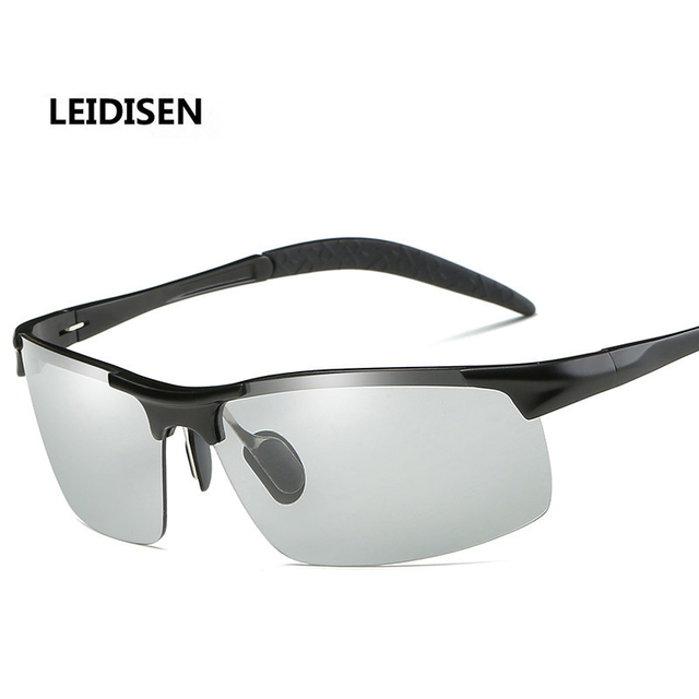 136e62ebf778 LEIDISEN Photochromic Chameleon Men Sunglasses Polarized Fashion Glasses  Driving Driver Luneta Medusa Lunette De Soleil Gafas