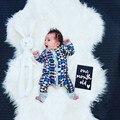 Recém-nascidos Roupa Do bebé do inverno 2017 Do Bebê Da Menina macacão crianças Roupas Romper Crianças Infantil trepadeiras Onesie Pijama Bebes