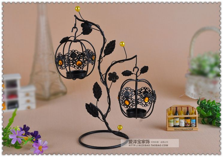 Fashion lantern tieyi mousse vintage hanging mousse at both ends new house decoration candle 4