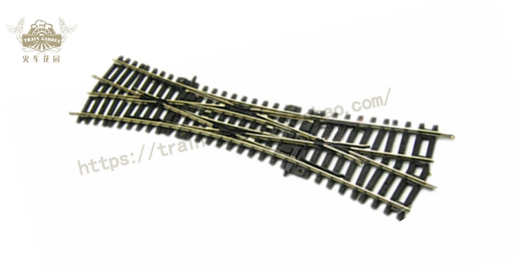 2018 new arrival the train model track DKW double-track 55224 cross the turnout on the slow train again