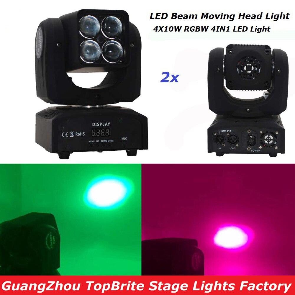 Big Discount 2XLot 67W Zoom Led Moving Head Light 10/12/15 Chs 4X10W RGBW 4IN1 Beam Light For Disco DJ DMX Bar Night Clubs