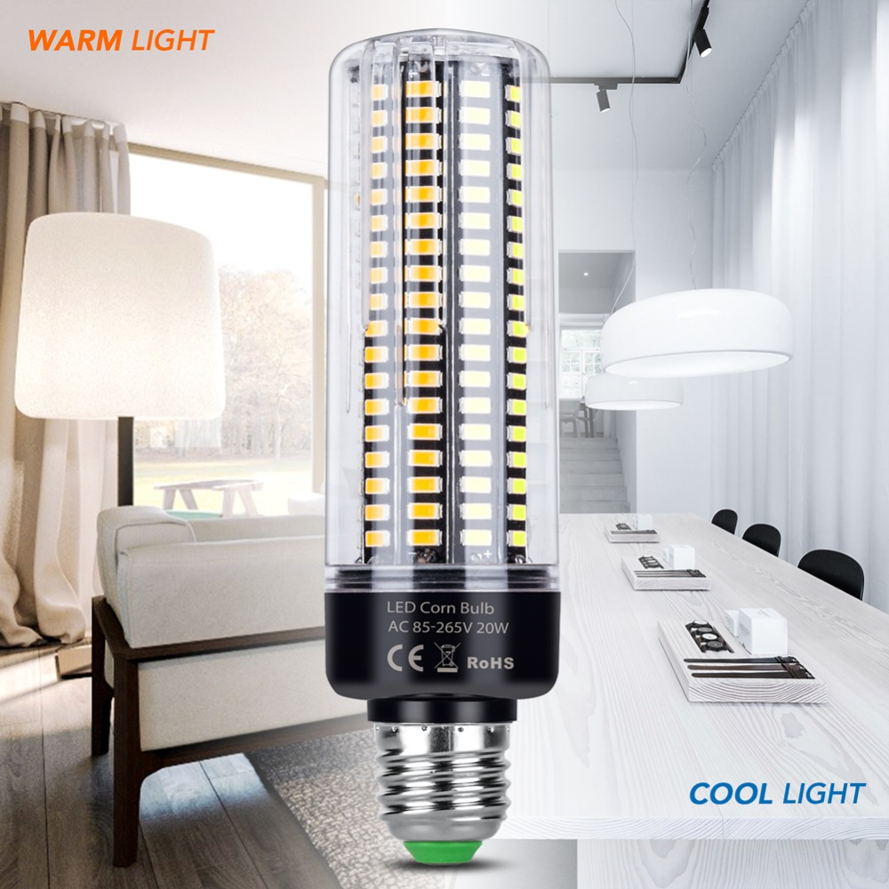 E27 LED Lamp E14 110V 5736 SMD Aluminum Energy saving lights LED Corn Bulb 220V 3.5W 5W 7W 9W 12W 15W 20W No Flicker More Bright smart bulb e27 7w led bulb energy saving lamp color changeable smart bulb led lighting for iphone android home bedroom lighitng