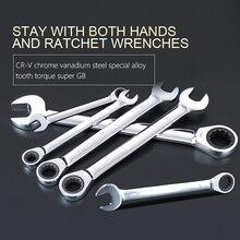 6 мм-32 мм Ключ Храповика Комбинированный Гаечный Ключ Набор ключей храповика скейт-инструмент передач кольцо ключа ratchet набор гибкая