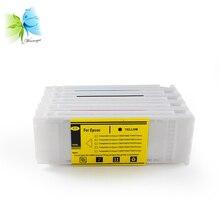 Winnerjet 5 colors x 700ML printer ink cartridge with dye for Epson SureColor T3270 T5270 T7270 disposable