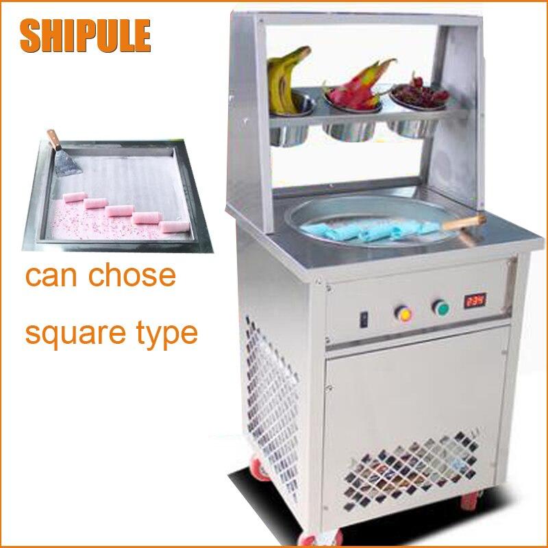 где купить  NSF CE new update fried ice cream roll machine sneeze guards cover  fry ice machine ice cream plate  по лучшей цене