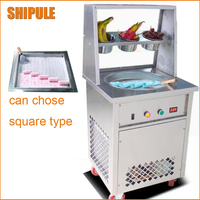 NSF CE New Update Fried Ice Cream Roll Machine Sneeze Guards Cover Fry Ice Machine Ice