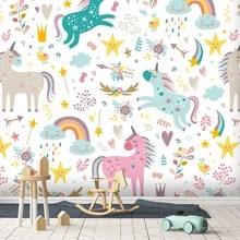 [Self-Adhesive] 3D Flowers Rainbow Unicorn 44 Wall Paper mur