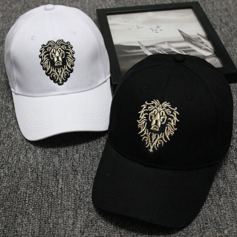 Lion Embroidery Pattern Baseball Cap Women Men Solid Color Cotton Hat Unisex Fashion Casual Adjustable Sunscreen Caps CP0115  (6)