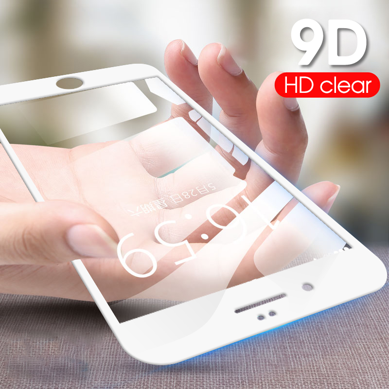9D Cover Screen Protector Tempered Glass For IPhone 7 8 Plus Full Glue Glass For IPhone 6 6S Plus HD Film For IPhone 5 5S SE