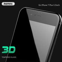 Para 5.5 inch iPhone 7 Plus/6 Plus/6 s Mais Completo tampa do Protetor de Tela de Vidro Temperado Filme 3D Preto Cor Branca Anti Arranhão
