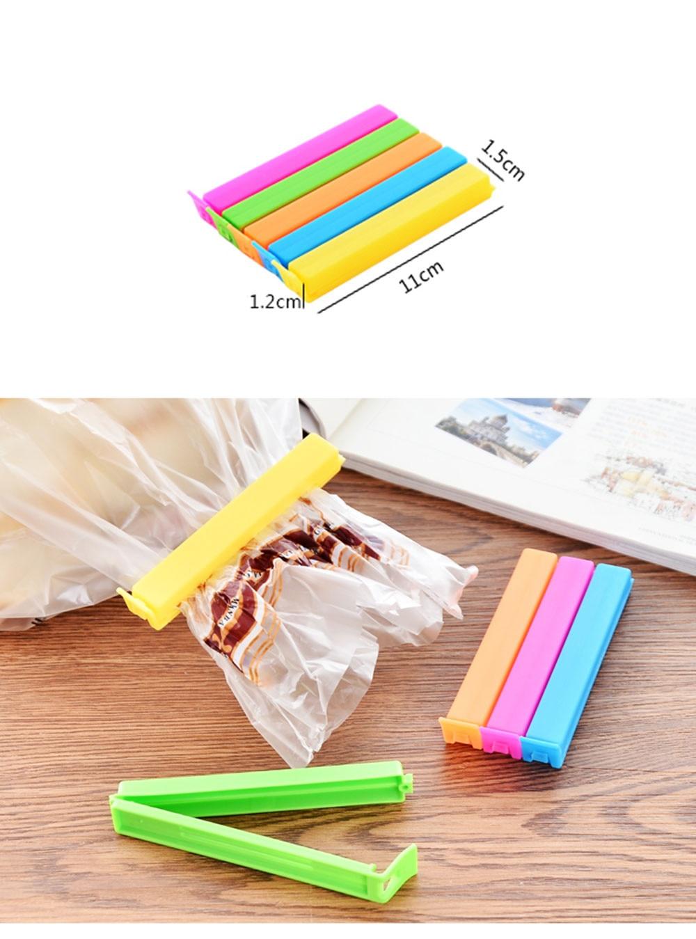 CUSHAWFAMILY 5 шт./лот цветной мешок клип контейнер для закусок сохранение зажимы для пакетов ароматизатор пакет для мусора кухня бытовой инструмент