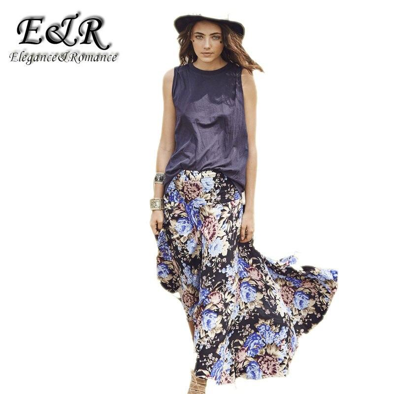 Retro large size printed skirt skirt skirt