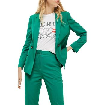 Popular Green Womens Suits Formal Ladies Tuxedos Casual Office Show Costumes Pants Suits