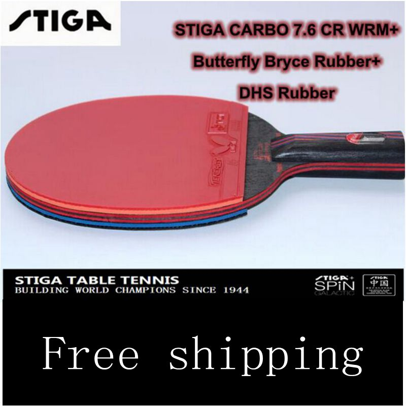 STIGA carbon 7.6 Carbo 13 layers 7.6 WRB CR senior Blue sponge Table tennis rackets two pimples pimples in rubbers