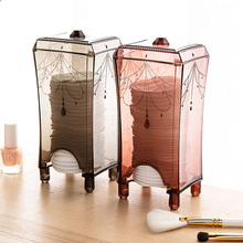 Makeup Organizer Plastic Storage Box Cotton Pad Dressing Table Home Accessories